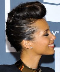 A head turning updo from Alicia Keys. Click on the image to try on this hairstyle!