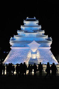 The Snow Castle at Sapporo Snow Festival, Japan