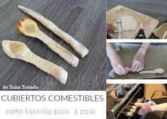 Como hacer cubiertos comestibles paso a paso