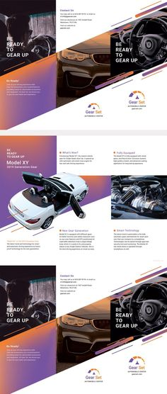 Free Automotive Brochure Template - Editable Free Automotive & Transportation Repair Service Brochure Design in PSD, Illustrator, Word, InDesign, Publisher, iPages.