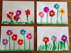 Cork Flower Painting - Spring Craft - Preschool Craft