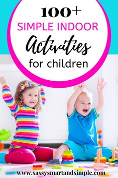 Find simple, fun and inexpensive indoor activities for kids. - Find simple, fun and inexpensive indoor activities for kids. Whether you're … – new years act - Activities For 2 Year Olds, Rainy Day Activities, Indoor Activities For Kids, Free Activities, Family Activities, Toddler Activities, Games For Kids, Toddler Games, Children Activities