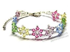 I like this one a lot :) Crystal Flower Bracelet