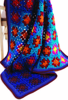 Use your favorite colors to create this great crochet blanket. Free.