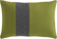 "felt stripe 18""x12"" pillow in rugs/pillows 