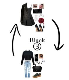 """Look black ✔️"" by hannah-morice on Polyvore featuring mode, Glamorous, Casadei, UN United Nude, River Island, Bajra, Midsummer Star, MAC Cosmetics, Genetic Denim et MICHAEL Michael Kors"