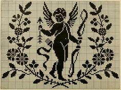 a very old Cupid cross stitch pattern