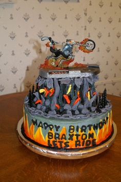 Ghost Rider Birthday Cake