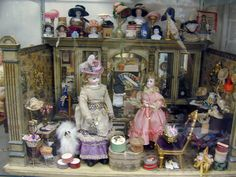 Antique dolls display, Special Joys Doll Museum, Coventry, CT /  Photo-Jill Morton