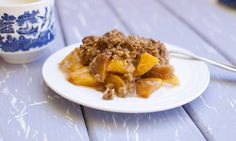 Peach Crisp with Oatmeal Cookie Crumbles — Fo Reals Life