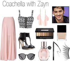 """""""Coachella with Zayn"""" by onedirectionperfectdates ❤ liked on Polyvore"""