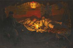 An Opium Den at Lime Street by John L. Wimbush