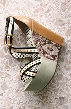 Animal print, studs, & leather, oh my! Gorgeous Jessica Simpson sandal.