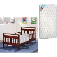 Baby Relax Toddler Bed w/Toddler Mattress Value Bundle (Your Choice in Finish) Deal
