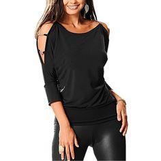 Fashion Women Off Shoulder T shirt
