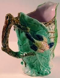 Beautiul Majolica Bird Pitcher