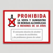 Señaletica Gratuita No Venta De Bebidad Menores De Edad Buscar Con Google Señaletica Bebidas Alcoholicas Ventas