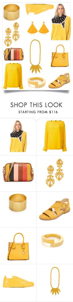 """YELLOW DRESS"" by ramakumari ❤ liked on Polyvore featuring Marc Jacobs, Emilio Pucci, Clare V., Ben-Amun, Maya Magal, rag & bone, MICHAEL Michael Kors, Vita Fede, Jil Sander and Mariah Rovery"