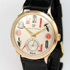 1950's Very RARE Girard Perregaux Masonic Dial 18K Solid Pink Gold Men's Watch | eBay