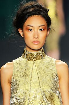 Vera Wang spring collection's makeup for 2013
