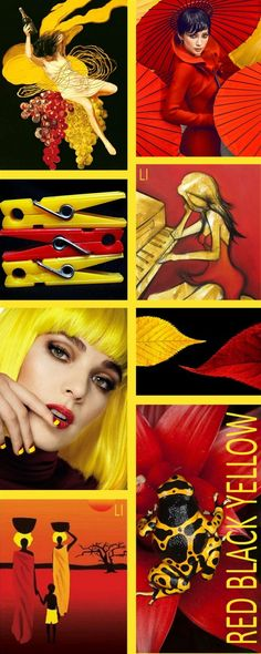 red | black | yellow ღ Lu's Inspiration