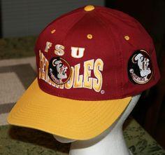 d0a830117ed Florida State Seminoles FSU football Snapback Cap Hat vintage  1984 golf trucker  FloridaStateSeminoles