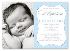 Lovely Script Boy 5x7 Invitation Card | Baptism Invitations