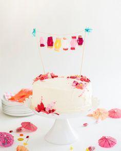 Mini Paper Lanterns Cake Topper DIY | Oh Happy Day!