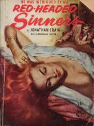 Pulp Fiction 2, Vintage Redhead, I See Red, Vintage Book Covers, Pulp Art, Make Me Smile, Redheads, Novels, Reading
