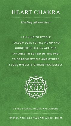 Heart Chakra Healing Affirmations – chakra affirmations, chakras, energy, healing, blockages, affirmations, positive affirmations, growth, om