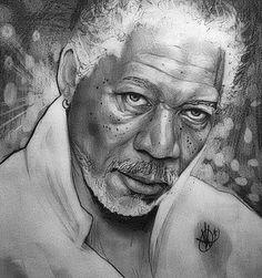 Retrato de Morgan Freeman #MorganFreeman #Red #God #hero #art #portrait #actor #pencildrawing #portrait #worldofartist #se7en #dibujo #arte #lapiz #cadenaperpetua #misteriosdeluniverso #rostro #mirada #putoamo