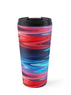 #abstract #art #love #red #blue #waves #beach #nature #travel #travelmug