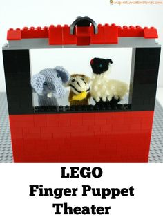 LEGO Finger Puppet Theater - I love this for pretend play!