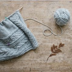 Happiness is wool on the needles.  Pam Allen's Gretel cardigan in heathery Lark Iceland from our Glen collection. #quincegretel #quinceandco