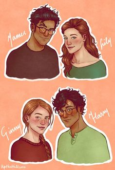 The Potters by upthehillart on DeviantArt Magia Harry Potter, Harry Potter Ginny Weasley, Gina Weasley, Harry And Ginny, Harry Potter Artwork, Harry Potter Feels, Harry Potter Drawings, Harry Potter Ships, Harry Potter Tumblr