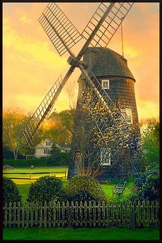 Windmill in East Hampton, Long Island, NY