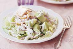Salade met meloen en gerookte kip - Recept - Allerhande