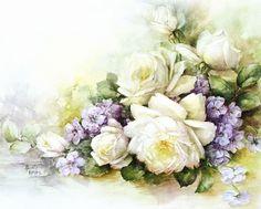 Rice paper for decoupage decorations Art Floral, Floral Vintage, Vintage Flowers, Vintage Prints, Floral Prints, Decoupage Vintage, Decoupage Paper, Flower Images, Flower Art
