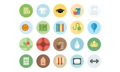 40 Beautiful Flat Icon Sets For Web UI Design   Icons   Graphic Design Junction