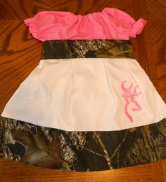 Girls Realtree Dress Peasant Camo Dress Infant by DazzleBows12, $35.00