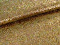 Brokat Jacquard Orange Gold Ornamente 13821-5009 von Stoff-Schatzkiste auf DaWanda.com
