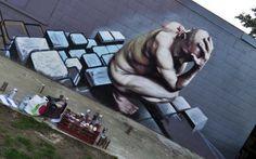 Street art artist Bart Smates - - Check more @ http://www.Streetart.nl or @﴾͡๏̯͡๏﴿ StreetART.blogspot.com #◄.nl #streetart #Bart Smates