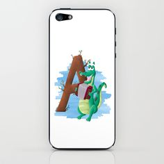 A comme Alligator iPhone & iPod Skin by Dinett illustration - $15.00