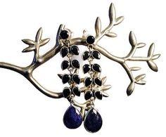 Midnight Blue statement earrings
