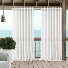 Carmen Sheer Extra Wide Indoor/Outdoor Window Curtain for Patio, Porch, Cabana - - Natural - Elrene Home Fashions Grommet Curtains, Sheer Curtains, Window Curtains, Window Panels, Extra Wide Curtains, Patio Store, Classic Curtains, Outdoor Curtains, Thing 1