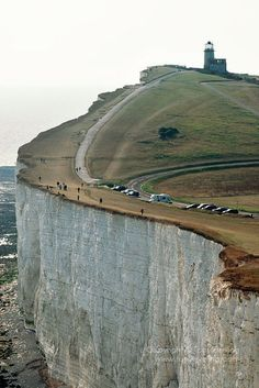 Beautiful. But, WHY ARE THEY SO CLOSE TO THE EDGE??? A big gust of wind could just blow them right off! Beachy Head, East Sussex, England, United Kingdom