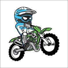 Cartoon Dirt Bike Sticker