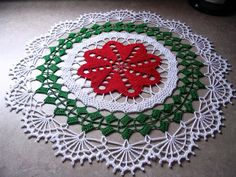 """Another clean out of the finished basket before Christmas... This doily is called """"Breakfast Nook"""" and comes from Decorative Crochet, iss..."""