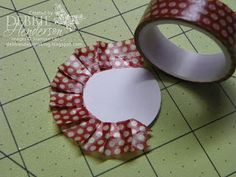 Creating a Washi Tape Medallion. Tutorial included by Debbie Henderson, Debbie's Designs.