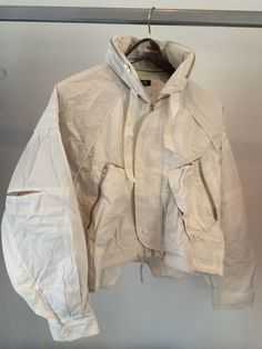 "lacollectionneuse: ""cropped parachute bomber jacket • raf simons £0.99 """
